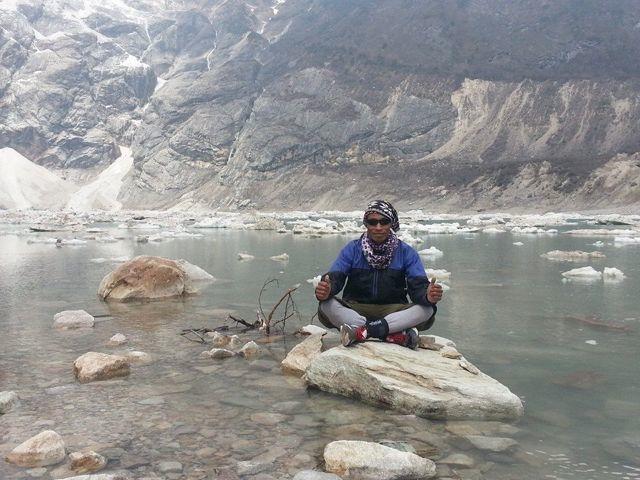 Kumar in the lake