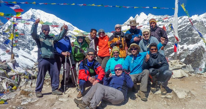 Group on Langtang trek