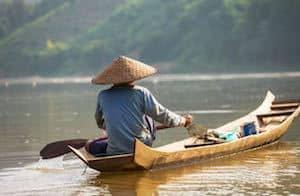 Traditional fisherman Indochina
