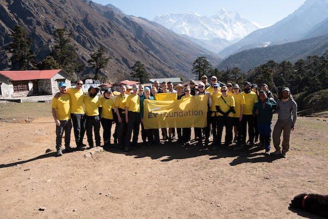 Large group accomplish charity trek to Everest Base Camp