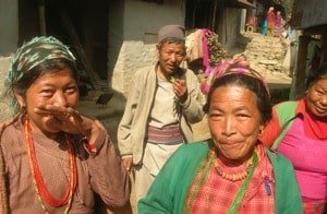 Local people on Helambu trek Nepal