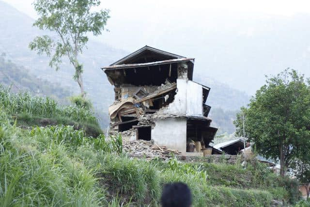 House destroyed in Nepal Earthquake
