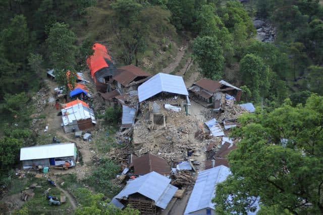 Village destroyed in Nepal Earthquake
