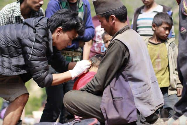 First aid in Nepal