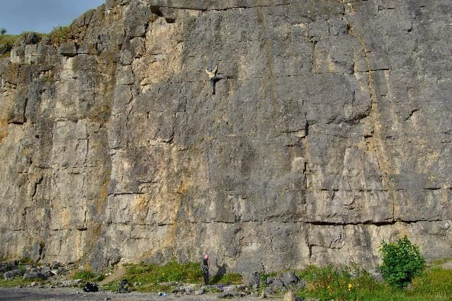 Man-Lead-Climbing-Quarry-Peak-District