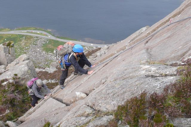 Man-Scrambling-Climbing-North-Wales-Tryfan