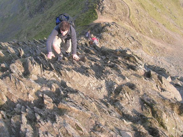 Man-Scrambling-Lake-District