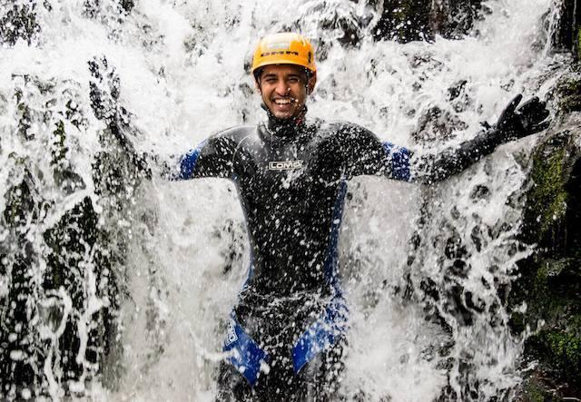 Man-in-Waterfall