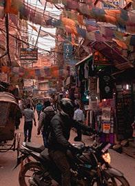Moped Kathmandu Streets
