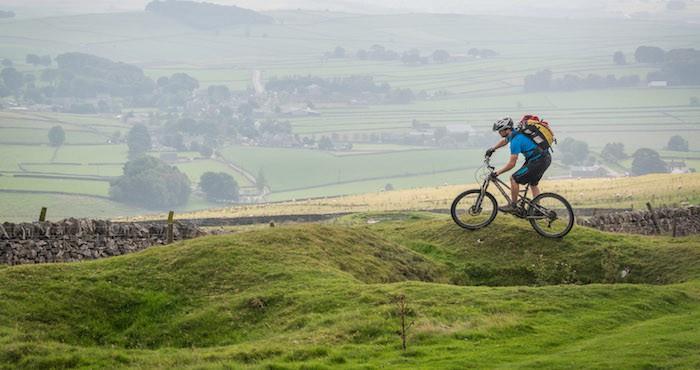 Mountain biker in the UK