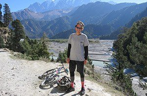 Mountain Biker Smiling Nepal