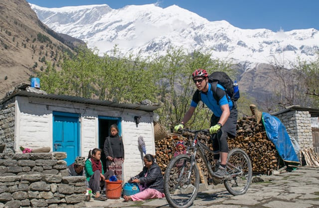 Mountain-Biking-Nepalese-Mountain-Village