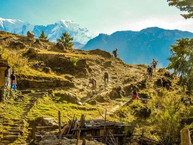 Mountain bikers Nepal