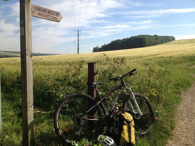 Mountain biking Yorkshire Wolds