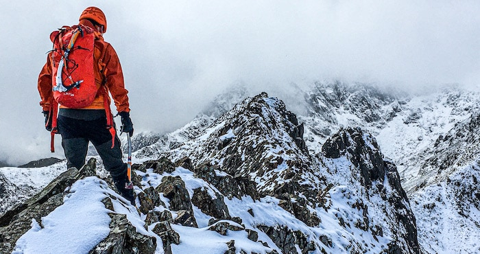 /Army recruit mountaineering in Wales