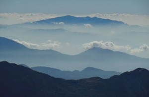mountains in the cloud