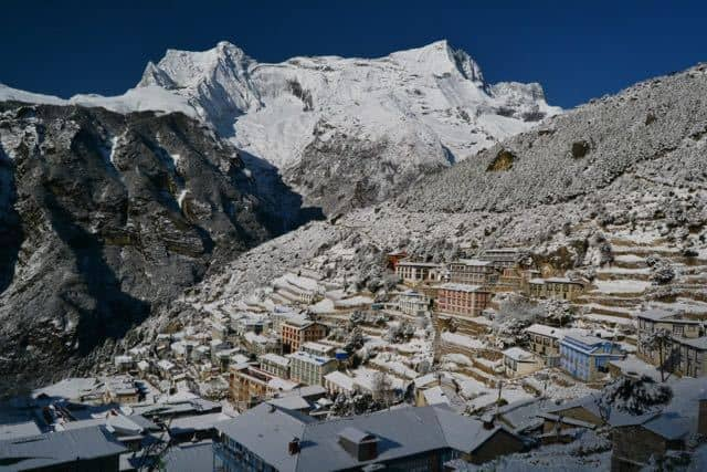 namche-bazaar-in-winter