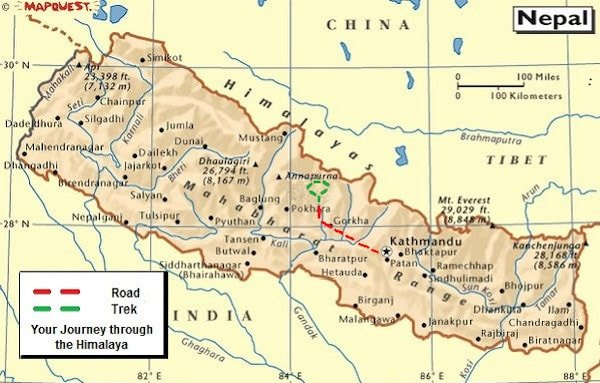 Nar Phu Trekking Map