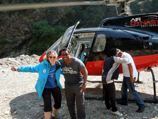 Nepal-Helicopter-Biking