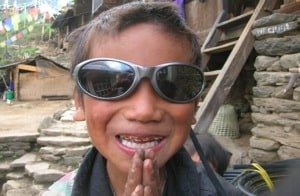 Nepal Child in Sunglasses