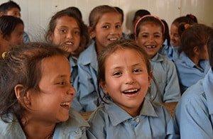 Nepalese Children Laughing New School