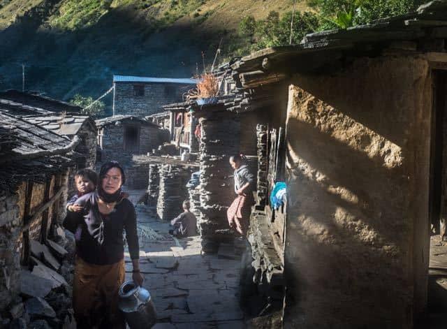Nepalese Mountain Village