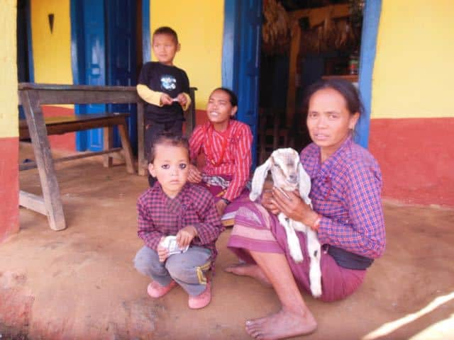nepalese-family-near-the-camp-ground