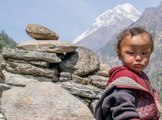 Nepali-Child-Mani-Stones