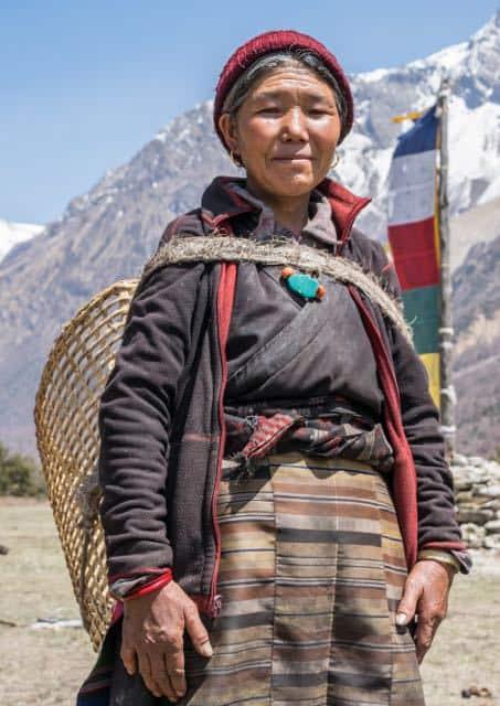 Nepali-Gurung-Lady-With-Dohka