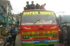 Nepali-Passengers-Bus