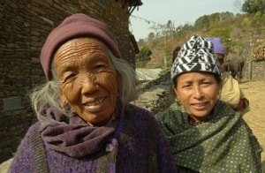 Villagers on Chisopani and Nagarkot trek