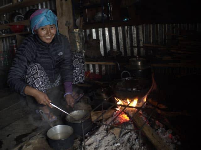 Nepali-Woman-Cooking
