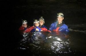 Night gorge walking and canyoning