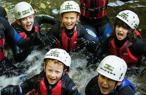 School-Group-Canyoning