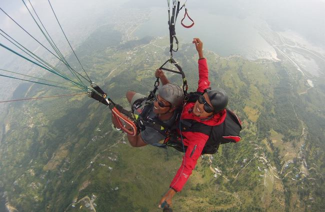 Paragliding one of best things to do in Pokhara