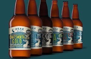 Bottles of Peak Ales beer