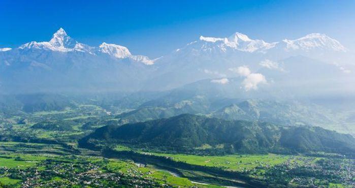 Mountain trek view of Pokhara