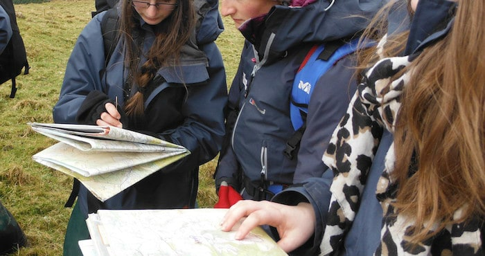 Public Services learners learn to map read on orienteering and hiking session