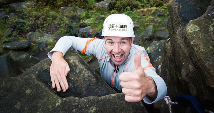 Rock Climber Stanage Edge