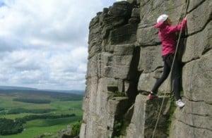 Rock climbing derbyshire