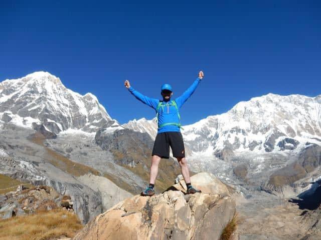 Runner-at-Annapurna-Sanctuary