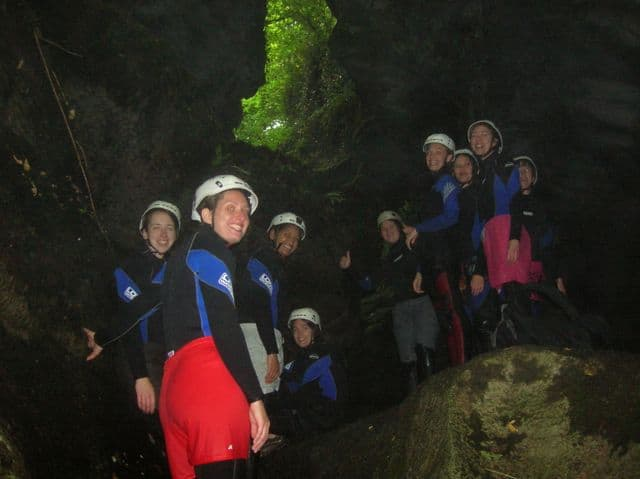 Sarah_leading_a_hen_party_up_the_gorge_12
