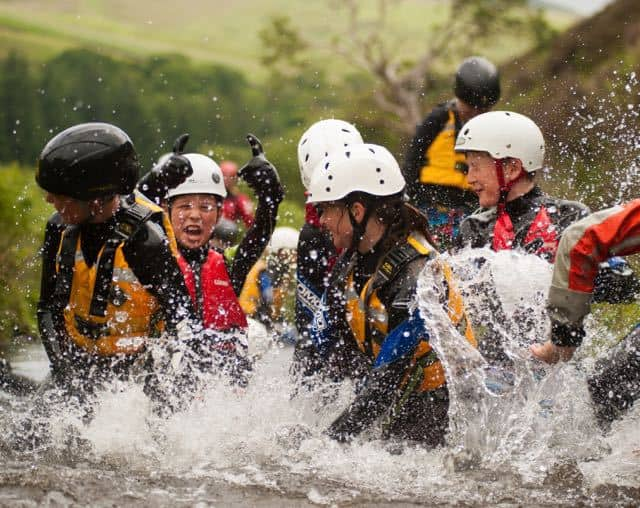 School-Group-Ghyll-Scrambling