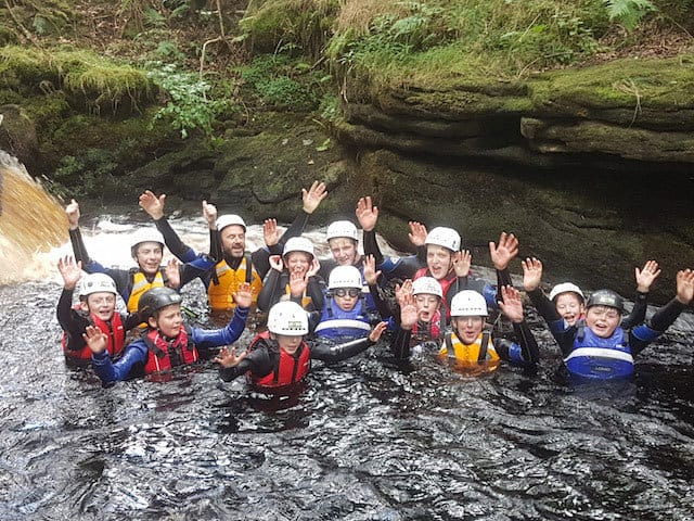School-Group-Gorge-Walking-Ingleton