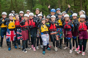 School group on an adventure trip in the Lake District