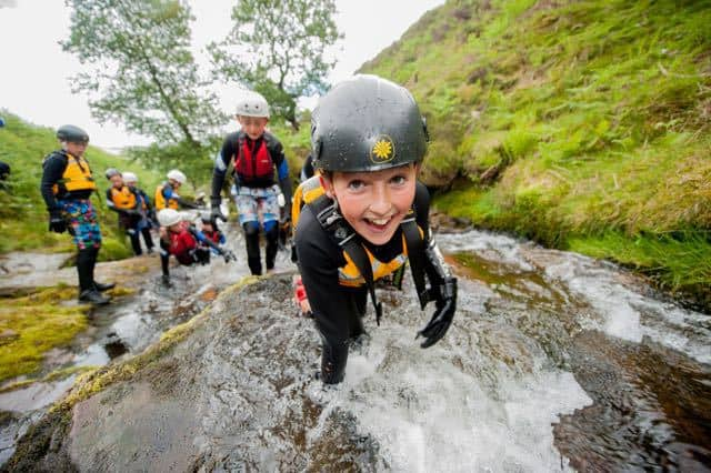 School-child-gorge-walking