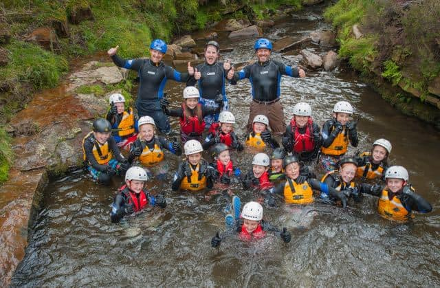 School-group-gorge-walking