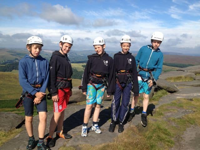 Scout climbing group