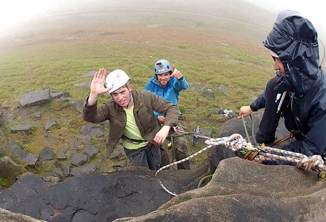 Abseiling Stanage