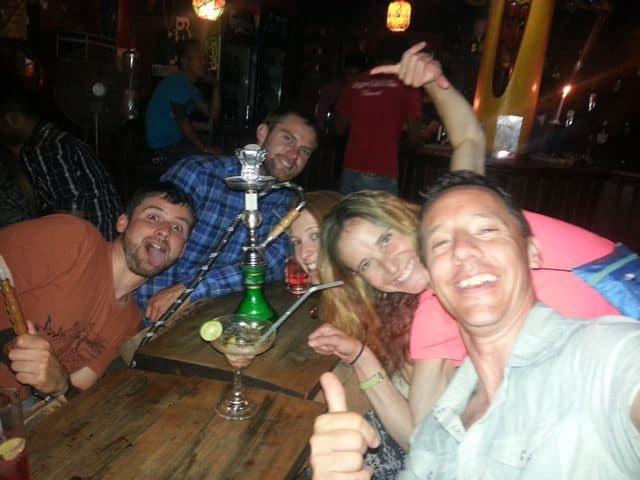 Smoking the Hookah